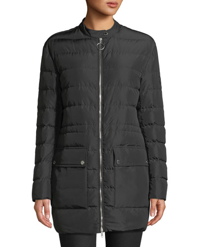 Adwick Channel-Quilted Long Coat