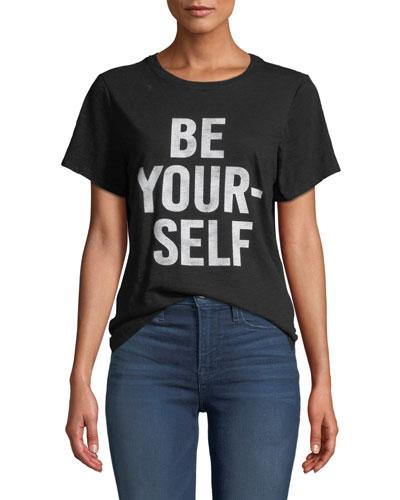 Be Yourself Graphic Crewneck Tee