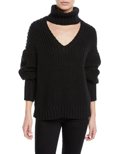 Adia Turtleneck Cutout Sweater