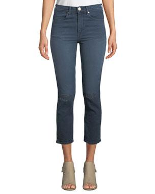 3106f8e1030 Rag   Bone High-Rise Distressed Cropped Skinny Jeans