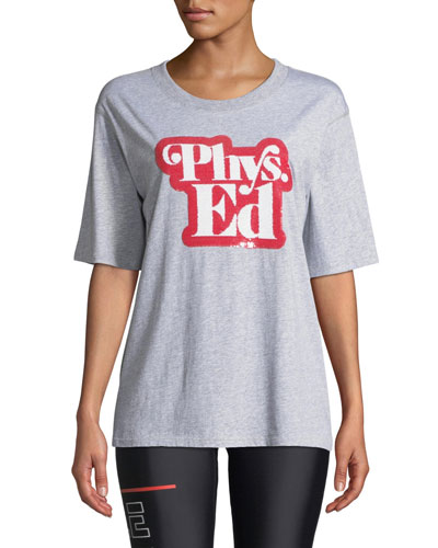 Charger Phys. Ed Sequined Graphic Tee
