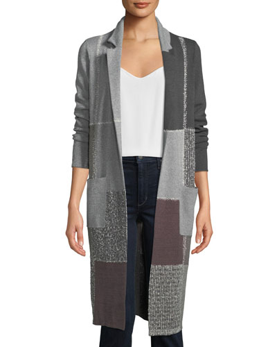 Eye Catching Colorblock Duster Jacket