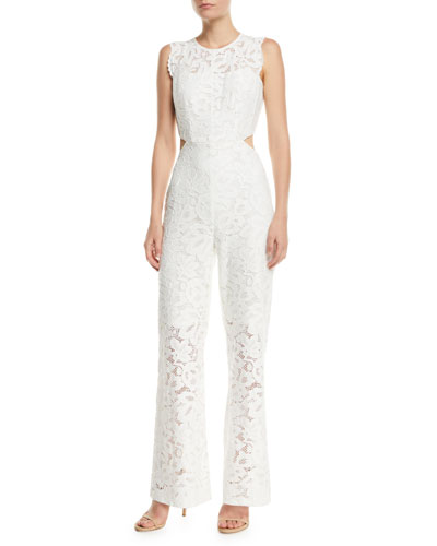 Galella Sleeveless Lace Jumpsuit