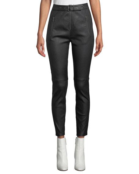A.L.C. Kamil High-Waist Skinny-Leg Lamb Leather Pants