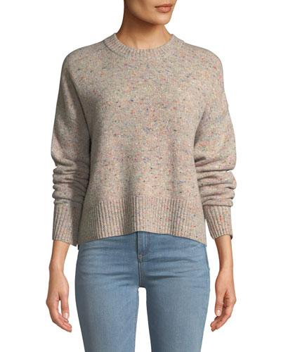Emmeline Speckled Wool-Cashmere Sweater