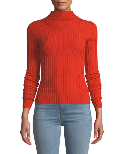 Lamont Fitted Wool Turtleneck Sweater