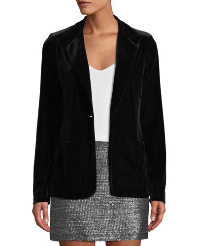 Blackjack Velvet Single-Button Jacket