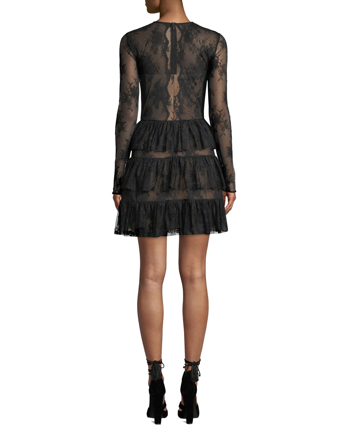 Riviera Lace Long Sleeve Cocktail Dress