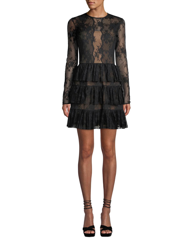 8a3e3da9e6 Bailey 44 Riviera Lace Long-Sleeve Cocktail Dress
