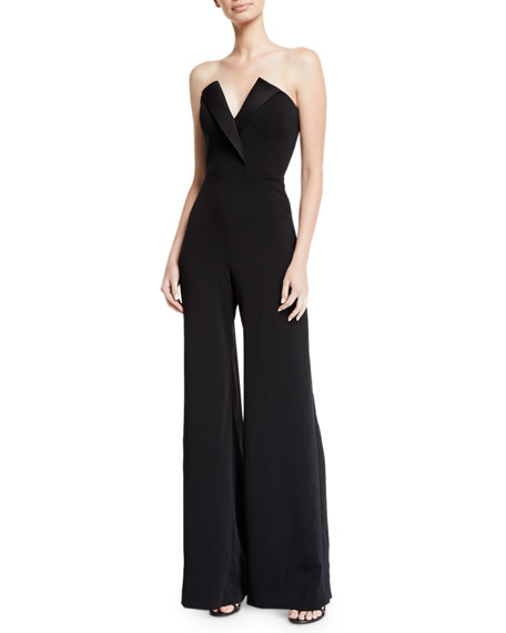 Jay Godfrey STRAPLESS CREPE JUMPSUIT