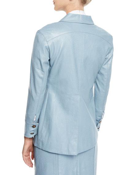 REJINA PYO Olivia Faux-Leather Point-Collar Jacket