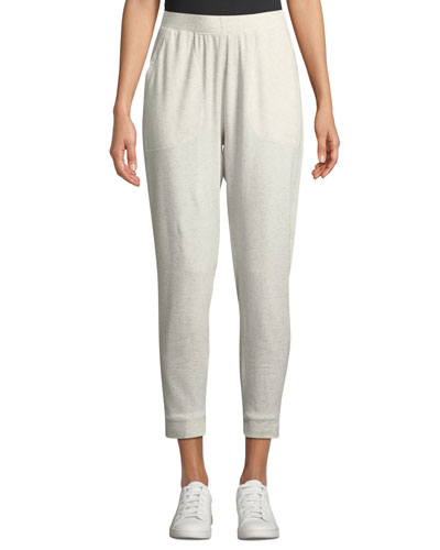 Slouchy Terry Knit Ankle Pants