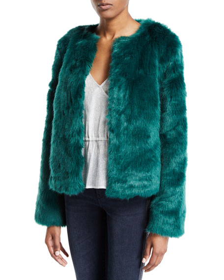 LOVERS & FRIENDS Nyc Faux-Fur Jacket in Jade