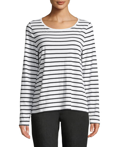 Striped Jersey Long-Sleeve Top
