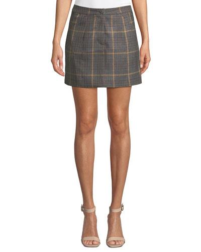 Kim Check Mini Skirt