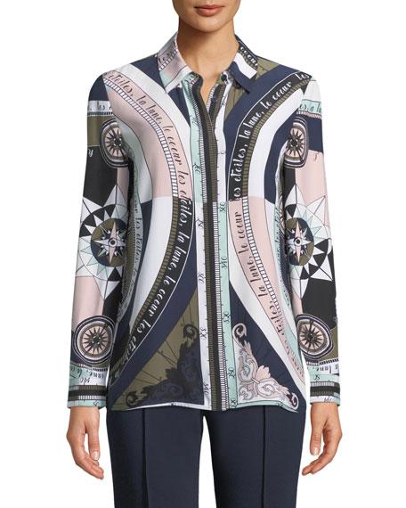 Constellation Silk Satin Shirt