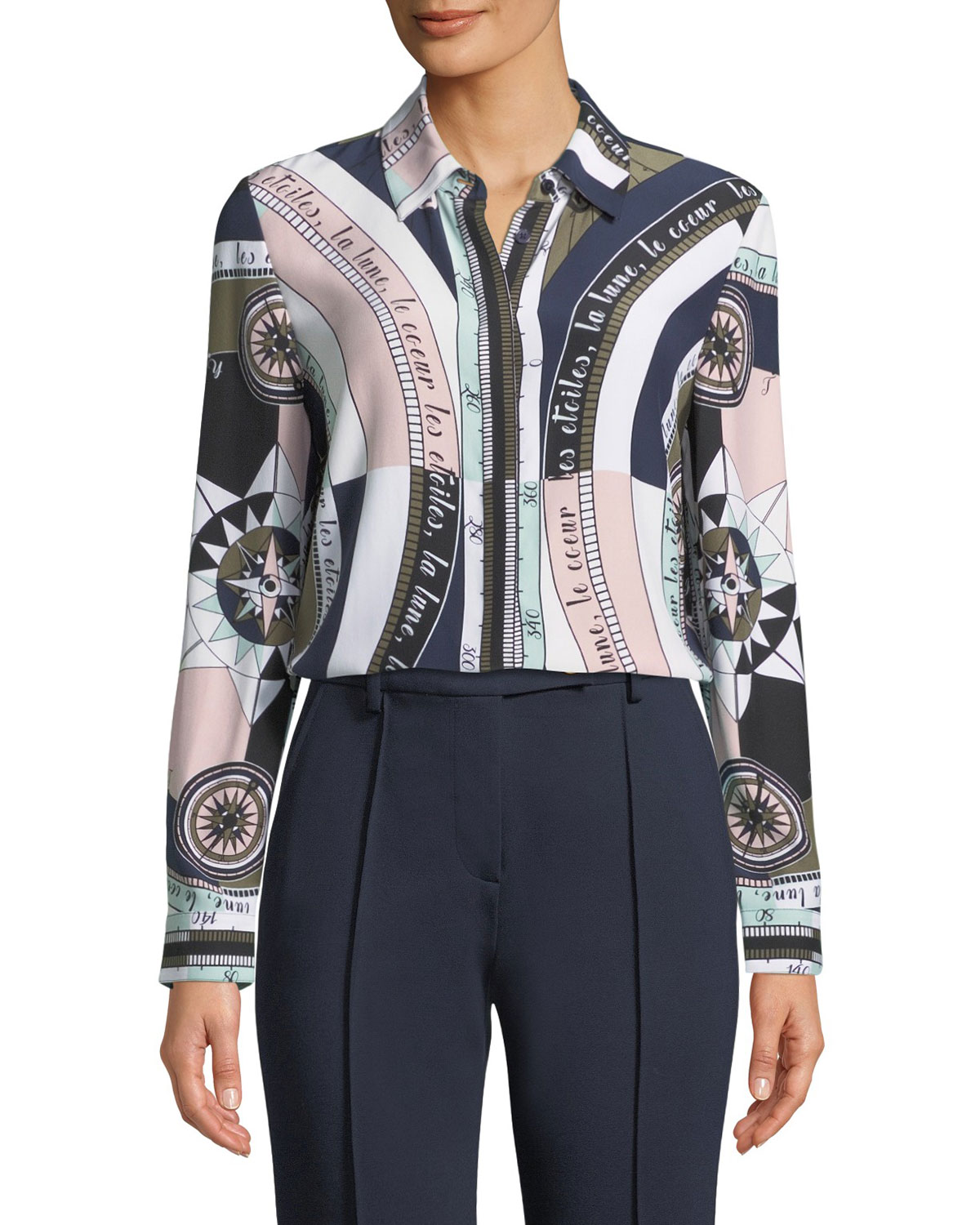 Constellation Silk Satin Shirt