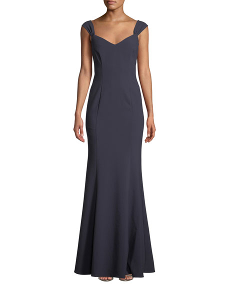 Likely Natalia Navy Blue Sweetheart Mermaid Gown