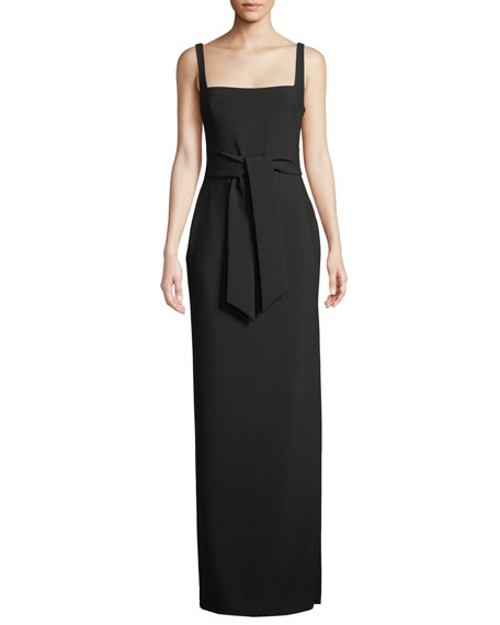 Likely Phillipa Black Sleeveless Cutout Gown