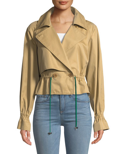 Finn Twill Cropped Trench Jacket