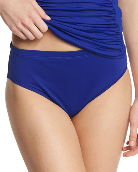La Blanca High-Waisted Tummy Toner Swim Bikini Bottom,