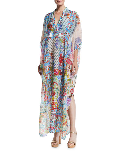 Juniper Printed Long Coverup Kaftan