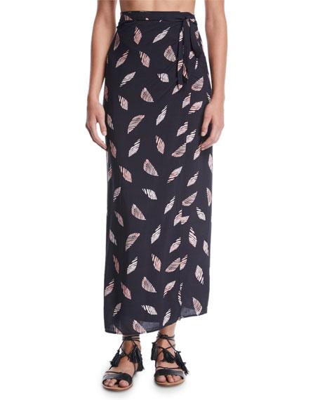 Vix Lee Printed Wrap Coverup Skirt