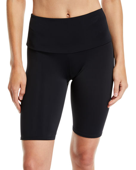 ONZIE High-Rise Activewear Bike Shorts in Black