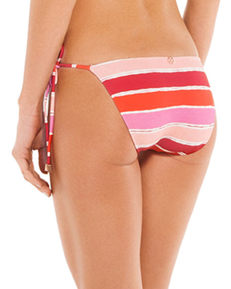 VIX Bikinis Eva Tie-Side Striped Bikini Swim Bottoms