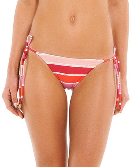 VIX Eva Tie-Side Striped Bikini Swim Bottoms