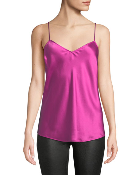 Cicely V-Neck Silk Camisole Top