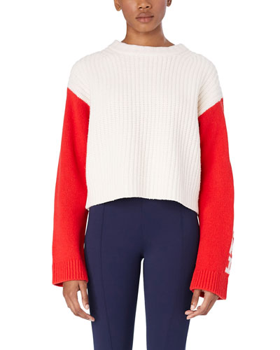Merino Cropped Apres Ski Sweater
