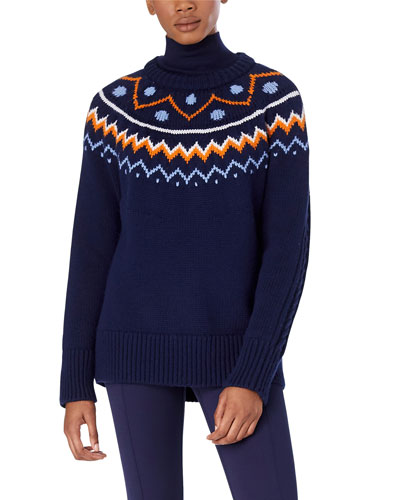 Performance Merino Fair Isle Cable-Knit Sweater