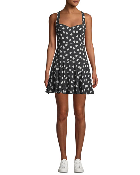 Fame And Partners THE FARR POLKA DOT MINI DRESS