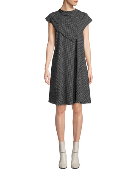 Fame and Partners The Thanh Popover Cap-Sleeve Dress
