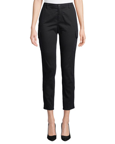 Slim Straight-Leg Ankle Cargo Pants