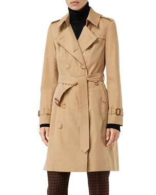 9963e90dc2a Hooded A-Line Long Outerwear Jacket.  298NOW  208 · Burberry Chelsea  Heritage Slim-Fit Trench Coat