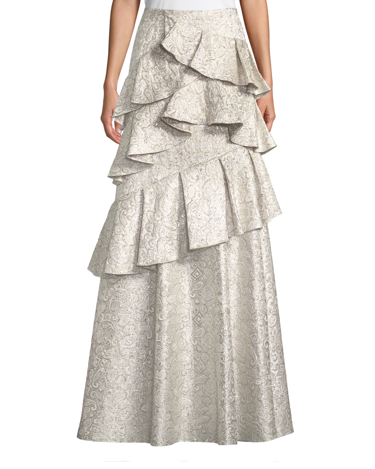 Alice + Olivia Flossie Ruffle Tiered Ball Gown Skirt | Neiman Marcus