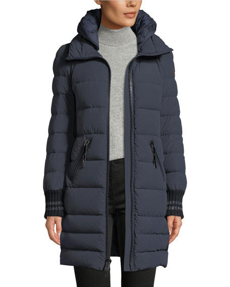 POST CARD Downs SKILBRUM FITTED LONG PUFFER COAT