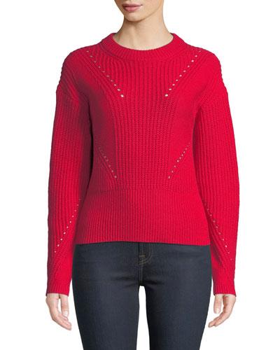 Eloisa Wool-Blend Ribbed Sweater