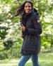 Gabriola Hooded Parka Coat w/ Reflective Back