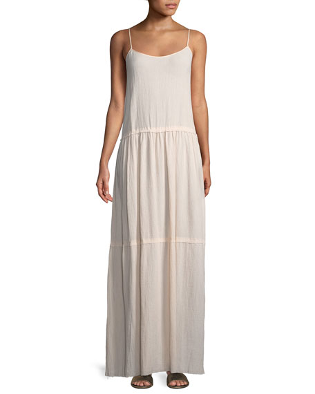 ATM Anthony Thomas Melillo Scoop-Neck Sleeveless Cotton Gauze
