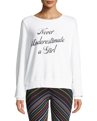 Never Underestimate A Girl Pullover Sweater