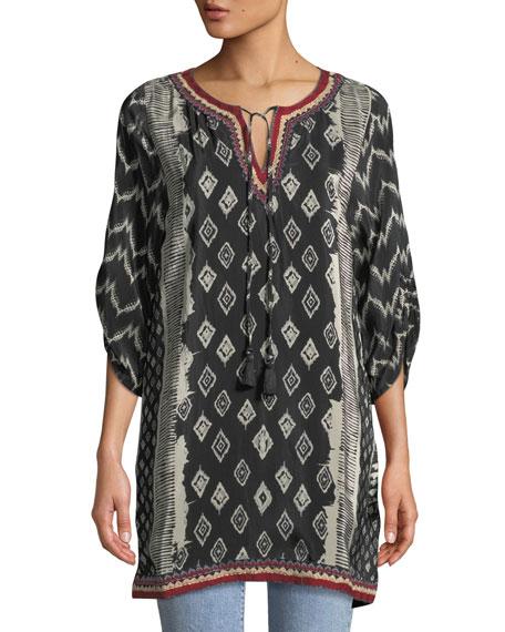 Tolani JOURNEY IKAT-PRINT TUNIC DRESS