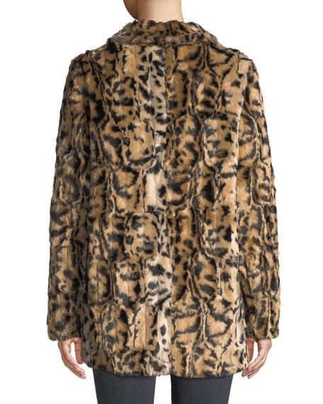 Juliana Leopard-Print Faux-Fur Jacket