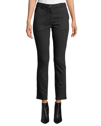 Cozy Stretch Slim-Leg Ankle Pants