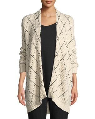 Eileen Fisher Petite Diamond Kimono Cardigan 03e5f5e12