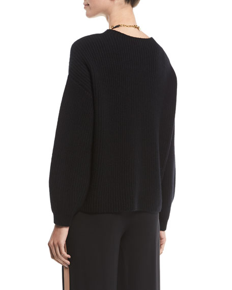 EILEEN FISHER Cashmeres PETITE CASHMERE RIBBED SWEATER