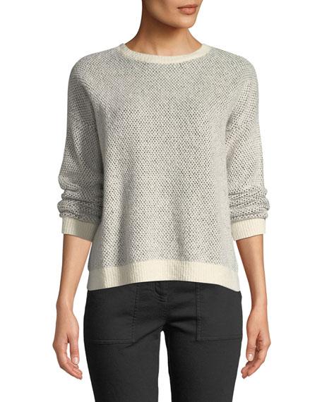 Eileen Fisher Organic Cotton-Blend Long-Sleeve Sweater w/ Rib