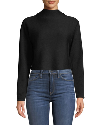 Vinchenda Mock-Neck Cropped Sweater